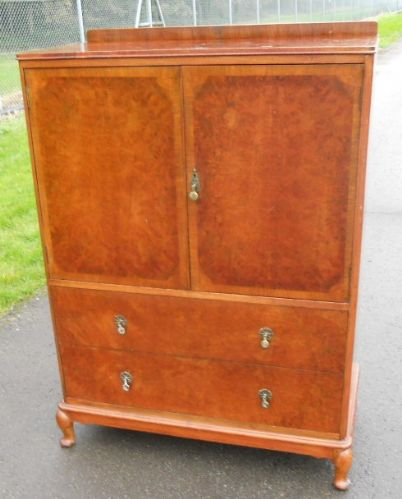 Queen Anne Style Walnut Tallboy Cupboard